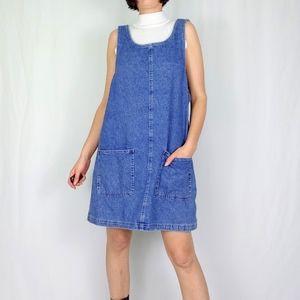 90's denim mini dress